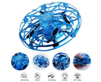 Drones Gesture Controlled Mini Drone Mini Ufo Drone Helicopter Indoor Sensing Surround Fly Aircraft - Blue 3