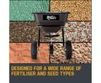 PLANTCRAFT Tow Behind Broadcast Spreader 30kg 26L Seed Fertiliser Tow Rotary 4