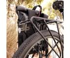 VENZO Bike Bicycle MTB 210D Polyester Quick Release Clip-on Waterproof 9.6L Backpack Rear Rack Pannier Bag with Slide2go Quick Mounting System 8