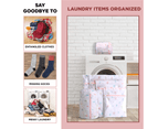 6 Pcs Mesh Laundry Bags Travel Storage Organizer Pack,Tree 2