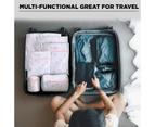 6 Pcs Mesh Laundry Bags Travel Storage Organizer Pack,Tree 5