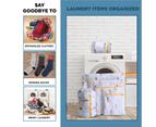6 Pcs Mesh Laundry Bags Travel Storage Organizer Pack,Pineapple 2