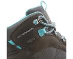 Kathmandu Mornington Womens Vibram Waterproof Lightweight Hiking Walking Boots  Women's  Hiking Shoes - Brown Dark Grey Teal 5
