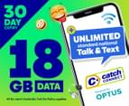 Catch Connect 30 Day Mobile Plan - 18GB 1
