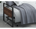 Zinus Ironline Single Daybed and Trundle Bed Frame Set 2