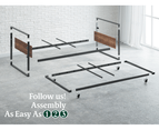 Zinus Ironline Single Daybed and Trundle Bed Frame Set 5