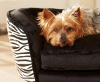 Enchanted Home Pet Plush Snuggle Bed For Small Dogs - Zebra 3