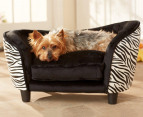 Enchanted Home Pet Plush Snuggle Bed - Zebra 1