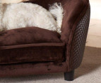 Enchanted Home Pet Plush Snuggle Bed For Small Dogs - Brown 3