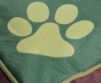 Paws n Claws Canvas Pet 48x60cm Cushion - Green  3