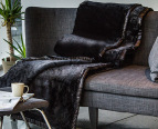 Deluxe Size 220x240cm 570GSM Mink Blanket - Black 4