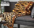 Deluxe Size 220x240cm Mink Blanket - Tiger Print 1