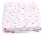 Grobag Polka Dot 120 x 55cm Swaddle - Pink 1
