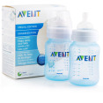 2 x Philips Avent 260ml Feeding Bottles - Blue 3