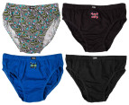 Rio Boys' Cotton Briefs 8-Pack - Skull 3