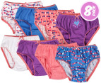 Rio Girl's Cotton Briefs 8-Pack - Hearts 1