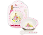 Bunnykins Suction Bowl & Spoon - Pink 1