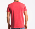OBEY Men's Naval T-shirt - Red 2