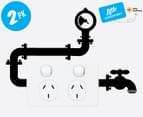 2 x Eco Reminder Pump Wall Decals - 20x9cm 1