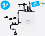 2 x Eco Reminder CO2 Wall Decals - 20x9cm 1