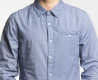 Mossimo Men's Spike L/S Shirt - Navy 2