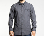 Mossimo Men's Spike L/S Shirt - Black Check 1