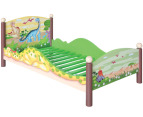 Toddler Dinosaur Bed - Green/Brown 1