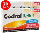 2 x Codral Relief Cold & Flu Tabs 10pk 1