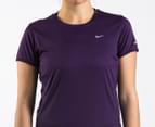 Nike Women's Miler S/S Running Shirt - Purple 2