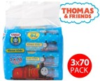 3x Thomas & Friends Clean Kidz Wipes 70pk 1