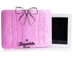 "Shopperholic 11"" iPad Sleeve - Pale Pink 1"