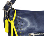 Coach Legacy Perforated Zip Duffle Hobo - Navy 3