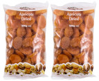 2 x J.C's Quality Foods Dried Apricots 500g 1