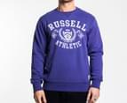 Russell Athletic Men's Vintage Crest Crew - Purple 1