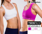 Champion Seamless Reversible Bras 2-Pack - Berry/White 1