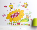 Cartoon Flower & Bee Wall Decal/Sticker 2