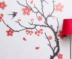 Red Cherry Blossom Wall Decal 2
