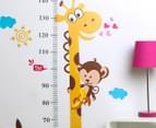 Giraffe & Monkey Height Chart Wall Decal/Sticker 2