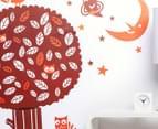 Night Owl Tree Wall Decal/Sticker 2