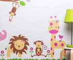 Safari Animals & Flowers Wall Decal/Sticker 3