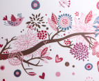 Children's Wall Decals - Retro Bird Tree Wall Decal 2