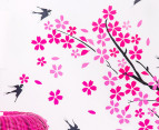 Children's Wall Decals - Tree with Flowers & Birds 3