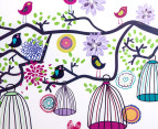 Retro Birdcage Tree Wall Decal/Sticker 3
