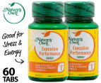 2 x Nature's Own Executive Performance Energy 30 Tabs 1