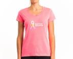 New Balance Women's Ribbon Tee - Pink 1