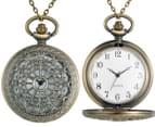 Vintage-Style Birdcage Pocket Watch Necklace - Gold 4