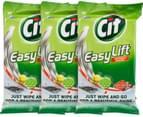 3 x CIF Easy Lift Wipes Lemon 50pk 3