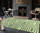 Rectangular Circuit Rug 280 x 190cm - Green 4