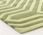 Rectangular Circuit Rug 280 x 190cm - Green 2