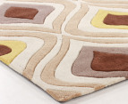 Retro Funk 225 x 155cm Rug - Brown/Gold 3